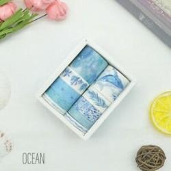 * 1 Óceán 10 tekercs / készlet papír Washi szalag dekoratív Scrapbooking ragasztó matrica kézműves