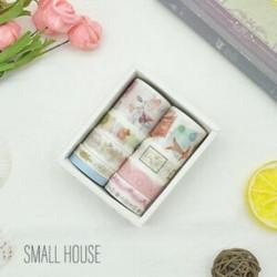 * 6 Kis Ház 10 tekercs / készlet papír Washi szalag dekoratív Scrapbooking ragasztó matrica kézműves