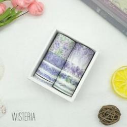 * 9 Wisteria 10 tekercs / készlet papír Washi szalag dekoratív Scrapbooking ragasztó matrica kézműves