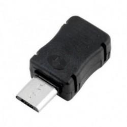 10Pcs DIY Micro USB 5-pólusú csatlakozós port csatlakozó műanyag dugó fekete