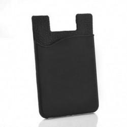 Fekete Ragasztó pálca hátsó fedél kártya tok tartó mobiltelefon iPhone Samsung HTC