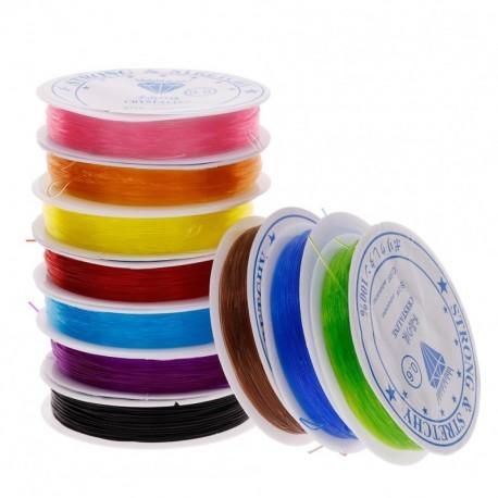 10db erős színes gumis damil ékszer nyaklánc fülbevaló karkötő kulcstartó készítéshez