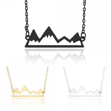c4c610a7bc 1db Női aranyos havas hegy mintás ezüst arany fekete színű bizsu lánc  nyaklánc ékszer kiegészítő