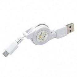 fehér Micro USB A és USB 2.0 B közötti, visszahúzható kábeladat-szinkron töltő a Samsung számára