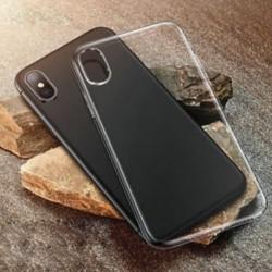 IPhone X-hez Tiszta tok Lágy, karcsú, ütésálló átlátszó gumi fedél iPhone XS Max XR X-hez