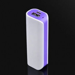 Lila 5000mah alumínium külső USB tápegység akkumulátor töltő doboz mobiltelefon