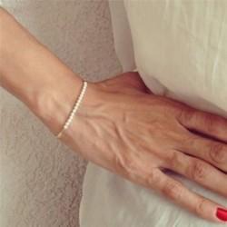 1x Elegáns kézzel készített ezüst arany színű lánc karperec karkötő női divatos ékszer karácsonyi ajándék