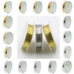 1x arany ezüst réz színű drót huzal nyaklánc karkötő gyűrű készítéshez 0.2-1mm