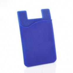 Kék Puha szilikon ragasztó matrica hátsó borító kártya tartó tok a mobiltelefonhoz
