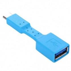 Kék USB-C 3.1 C típusú férfi-USB 3.0 adapter OTG adatszinkron töltő töltő kábel