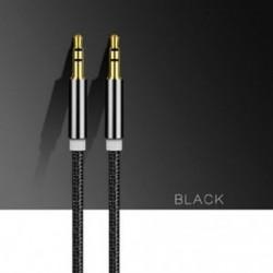 Fekete 1M / 3ft 3,5 mm-es férfi-férfi kábel AUX kiváló minőségű kábel AUX / fejhallgatóhoz / MP3-hoz
