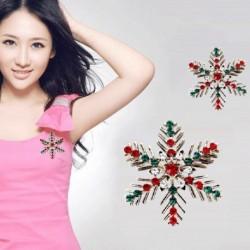 1x strasszos Kreatív színes hópehely strassz kristály bross kitűző ékszer ajándék party dekoráció ékszer