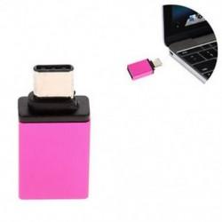 Rózsaszín C típusú férfi és USB 3.0 nő OTG USB 3.1 adatszinkronizáló töltőadapter átalakító