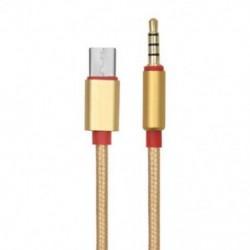 Arany , 3,5 mm-es férfi-USB-C férfi sztereó 3,5 mm-es alumínium típusú c-3,5 mm-es audio Aux kábel