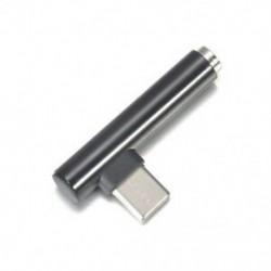 Fekete C-től 3,5 mm-es jack fülhallgató-kábel USB C fejhallgató Audio 90 ° -os adapter
