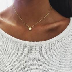 Elegáns csillag díszes nyaklánc - Elegáns női ékszer ezüst vagy arany színben