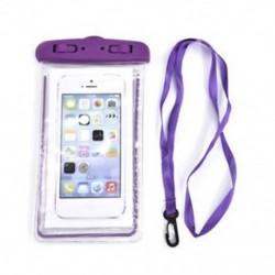 Lila Világító víz alatti tok vízálló száraz táska tok iPhone okostelefonokhoz