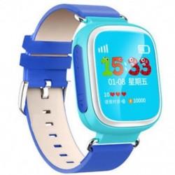 Kék 1db Anti-Lost Kids Biztonságos GPS Tracker SOS Call Smart Watch csukló Android IOS