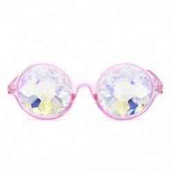 Rózsaszín Kaleidoszkóp napszemüveg - Trendi unisex viselet