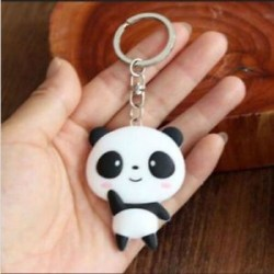 * 40 Panda Hordozható kreatív ötvözet fém kulcstartó autó kulcstartó Unisex kulcstartó kulcstartó