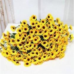 * 4 Sárga Virág csokor mesterséges selyem rózsa virág menyasszonyi esküvői fél váza dekoráció