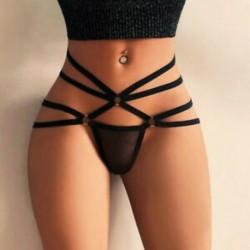 * 26 Fekete méret S Forró szexi női tanga G-string V-string bugyi Knickers fehérnemű fehérnemű