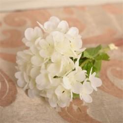 fehér Mesterséges hortenzia selyemvirágok levélszár esküvői menyasszonyi party lakberendezés Új