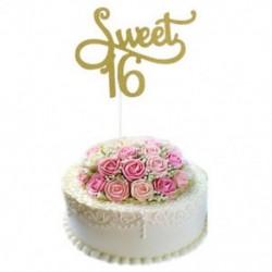 Édes 16 Kreatív Cake Topper gyertya &quot Boldog születésnapot&quot  10.-60th Party kellékek dekoráció
