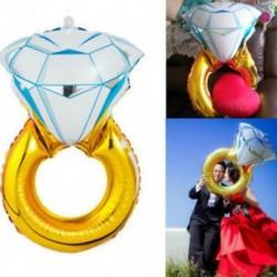 * 16 1Pc gyémánt gyűrű 10X 2019 Boldog új évet Latex léggömb karácsonyi születésnapi esküvői party dekoráció