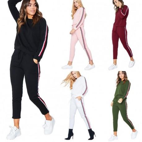 480b3d5e7f 1 db női melegítő tréningruha edzőruha nadrág felső rózsaszín zöld