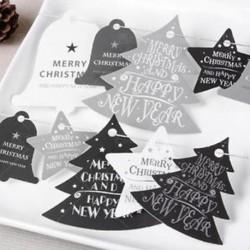 Egyszerű Boldog karácsonyt lógó kártya díszek ajándék címke esküvői fél karácsonyi fa dekoráció