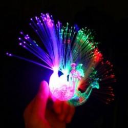 1db 5 / 10Pc Peacock Light Up ujj gyűrű lézer LED izzó sötét pálca gyerekek fél játékok
