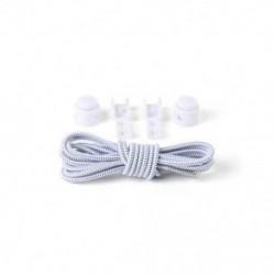 Fehér   fekete 1Pair Elasztikus No-Tie Locking cipőfűző cipőfűző cipő csatokkal sportcipő számára