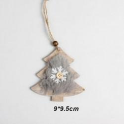 1db 90x95mm Karácsonyfa alakú fa dísz - Karácsonyi dekoráció