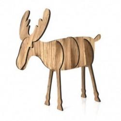 Nagy tölgy színű 3D fa karácsonyi elk szarvas díszek karácsonyi fa függő dekoráció függő ajándék