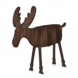 Nagy dió színű 3D fa karácsonyi elk szarvas díszek karácsonyi fa függő dekoráció függő ajándék