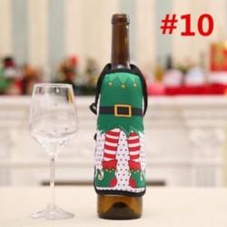 * 10 Santa nadrág karácsonyi Candy táskák Bor harisnya üveg ajándék táska Xmas dekoráció