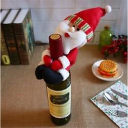 * 17 Mikulás Santa nadrág karácsonyi Candy táskák Bor harisnya üveg ajándék táska Xmas dekoráció