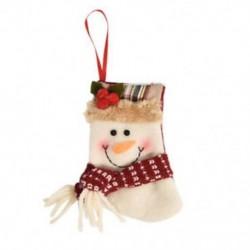 1db 10x12cm-es Felakasztható Karácsonyi zokni - Hóember mintás - Karácsonyi dekoráció - 8