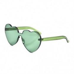 Zöld Nagy túlméretezett női Lolita szív alakú napszemüveg divat aranyos szerelem szemüveg