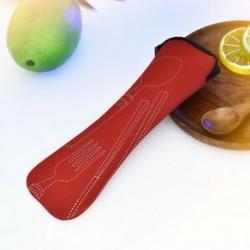 Piros Hordozható pálcika Spoon Fork evőeszköz táska vacsorához Utazás Kempingasztalok
