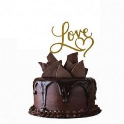 1db Szerelem Kreatív Cake Topper &quot Boldog születésnapot&quot  10.-60. Gyertyafény kellékek dekoráció