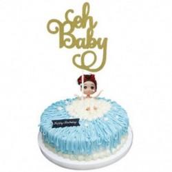 1db Oh Baby Kreatív Cake Topper &quot Boldog születésnapot&quot  10.-60. Gyertyafény kellékek dekoráció