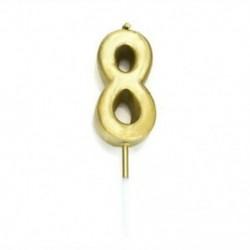 8. szám Kreatív Cake Topper &quot Boldog születésnapot&quot  10.-60. Gyertyafény kellékek dekoráció