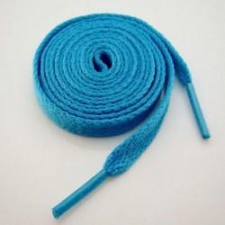 Kék 1 pár lapos színes cipőfűző húrok lapos sportos csizma sport cipőfűzők 130cm