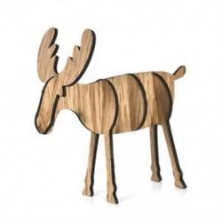 Kis tölgy színű Fa karácsonyi elk szarvas díszek Xmas fa függő dekoráció dísz medál legjobb ajándék