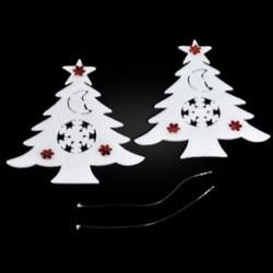 Karácsonyfa 2PCS Christmas White Elk Bell szarvas díszek Xmas fa díszek Party Decor