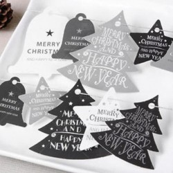 Egyszerű Boldog karácsonyt lógó kártya díszek ajándék címke esküvői party karácsonyi otthoni dekoráció