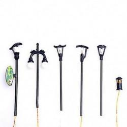 5Pcs Mini utcai lámpák Miniatűr kézműves növényi tündérfűke babaház dekoráció kerti dísz DIY új