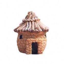 1PC Khaki ház Miniatűr kézműves növényi tündérfűke babaház dekoráció kerti dísz DIY új